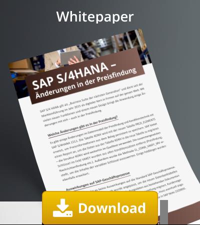 SAP S4/HANA Änerdungen in der Preisfindung