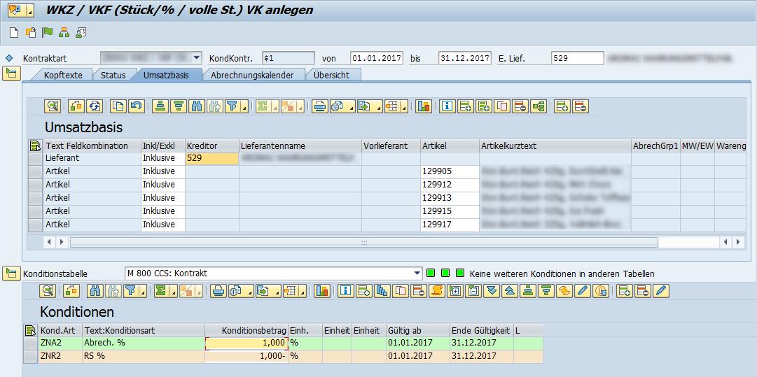 Screenshot - CCS Kontraktpflege