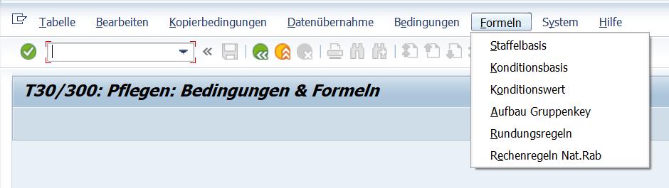 SAP Preisfindung: Pflege von Formeln