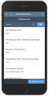 SAP MM App: Materialinformation