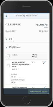 SAP MM App: Wareneingang zur Bestellung