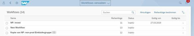 Workflows verwalten