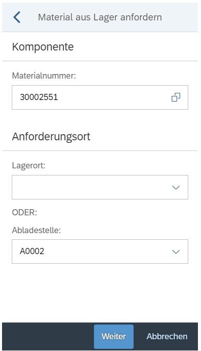Mobile Datenerfassung in der Produktion: Material aus Lager anfordern mit der SAP PP App