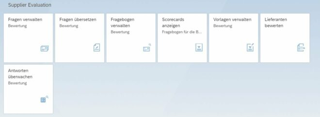 Lieferantenbewertung in S/4HANA mittels SAP Fiori Apps