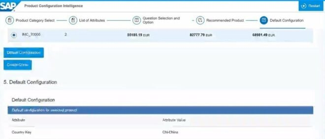 Einblick in SAP Product Configuration Intelligence