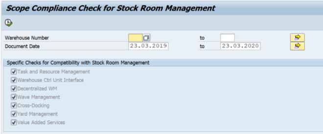 Compatibilitycheck zwischen Stock Room Management und SAP WM
