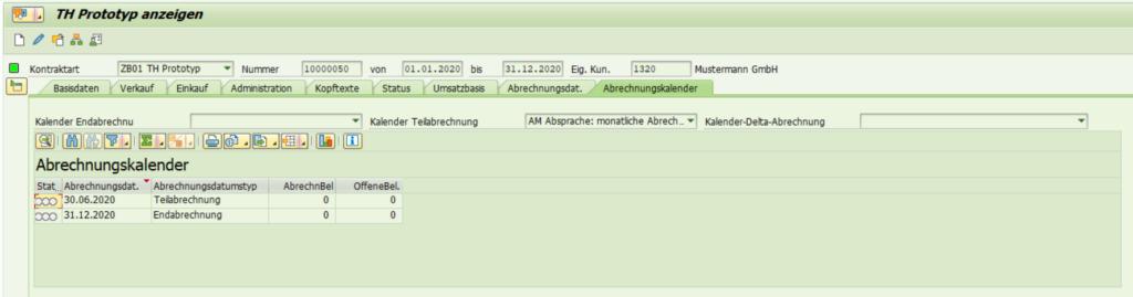 SAP Transaktion WCOCO: Abrechnungskalender.