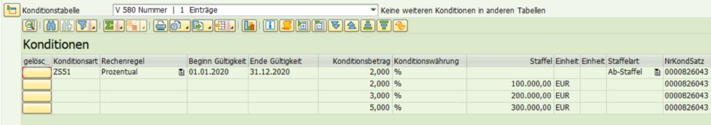 SAP Transaktion WCOCO: unterschiedliche Konditionen für unterschiedliche Materialien.