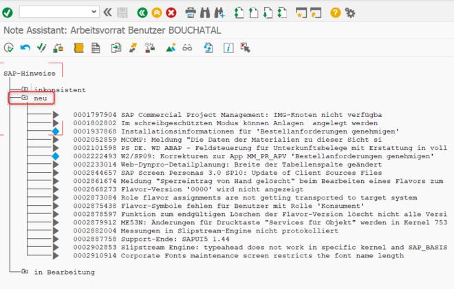 Compatibilitycheck Stock Room Management: Note Assistant Arbeitsvorrat Benutzer