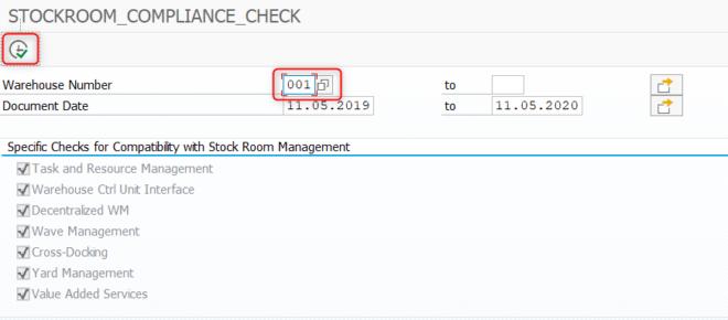Stockroom Compliance Check im Stock Room Management
