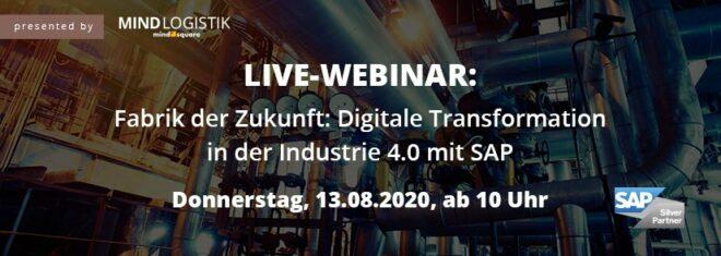 Webinar Fabrik der Zukunft am 13.08.2020