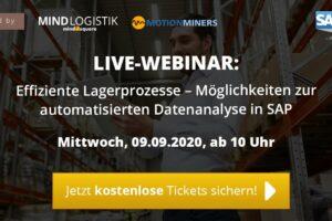 Webinar: Effiziente Lagerprozesse – Möglichkeiten zur automatisierten Datenanalyse in SAP
