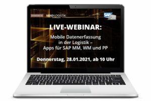 Live-Webinar Mobile Datenerfassung in der Logistik - Apps für SAP MM, WM, PP