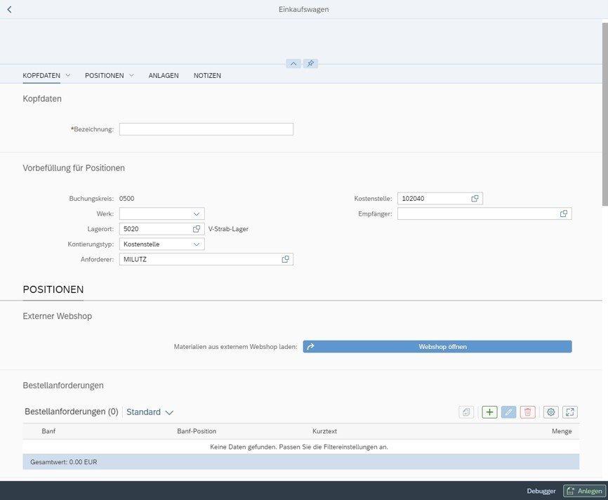 Die SAP Ariba ALternative: Der SAP-Webshop für Material- und Dienstleistungsanforderungen von Mindlogistik