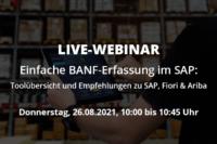 Live Webinar Einfache BANF-Erfassung mit SAP