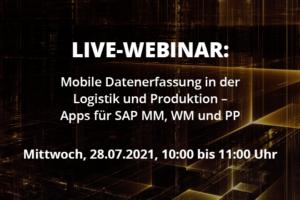 Live Webinar Mobile Datenerfassung in der Logistik und Produktion