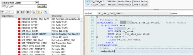 Methode SET LFA1 CONFS DIRECT